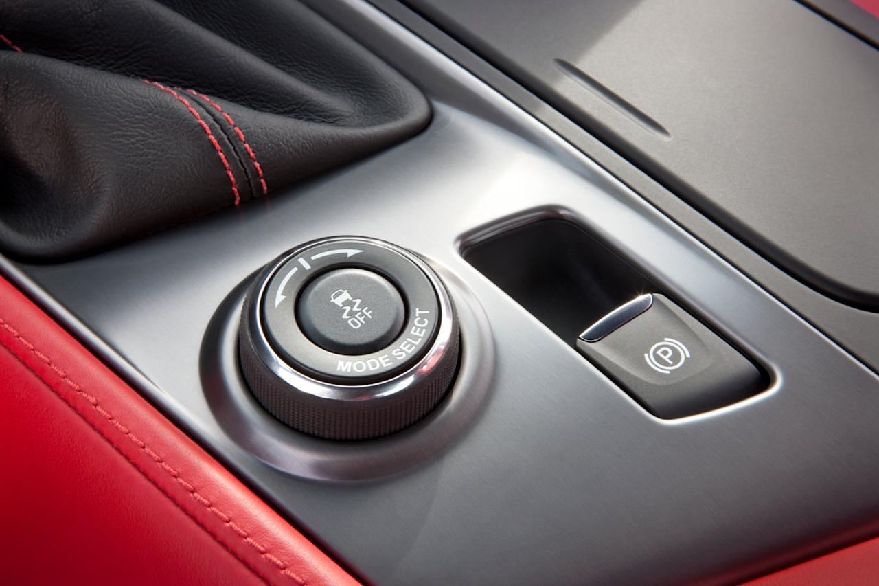 The Corvette Stingray comes with five driving modes, ranging from bad weather traction to track use.