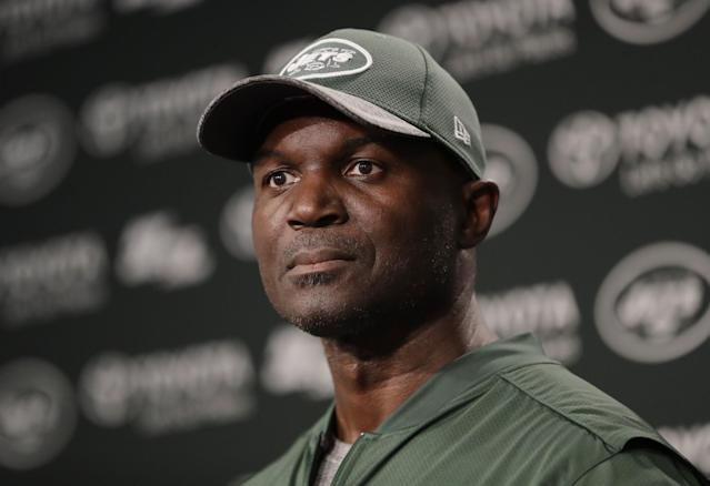 Head coach Todd Bowles said he might go with a veteran QB to help 'teach kindergarten' with the young Jets this season. (AP)