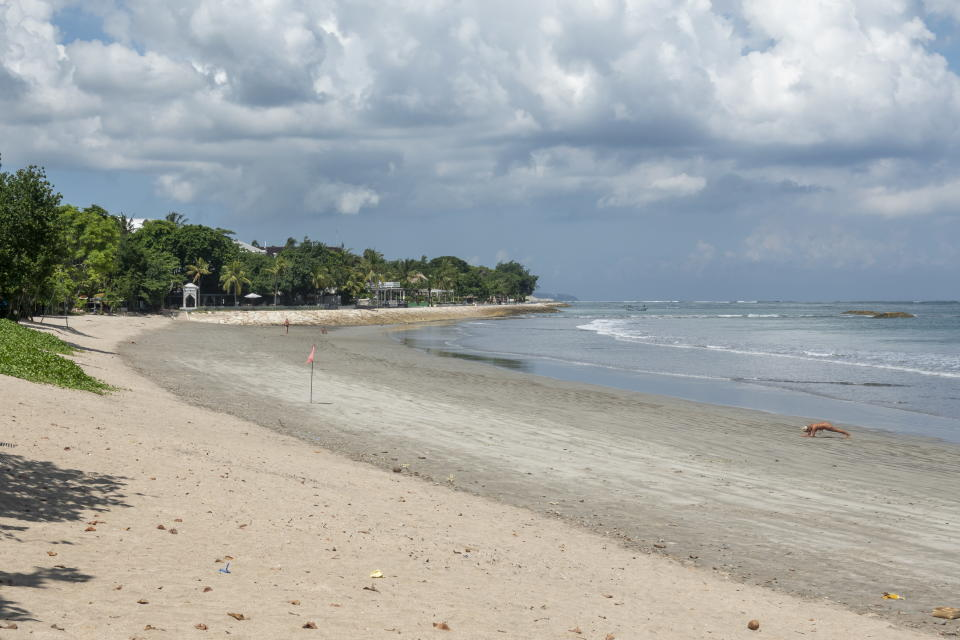 A pristine Kuta beach before it was inundated with rubbish.
