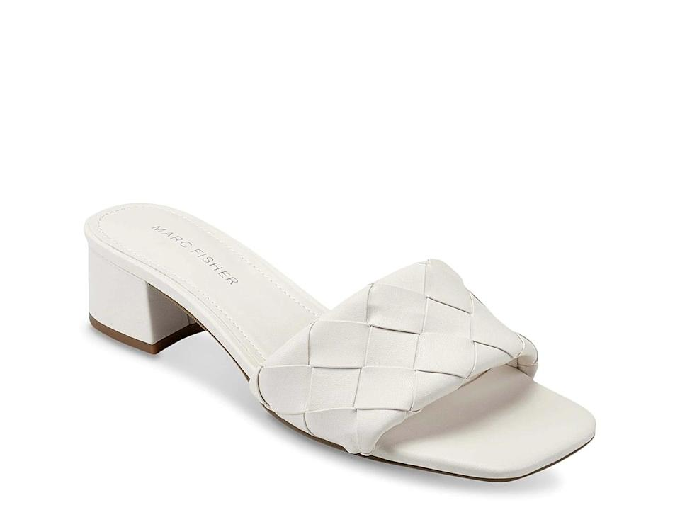 <p>These versatile <span>Marc Fisher Casara Slide Sandals</span> ($65) would look good with everything.</p>