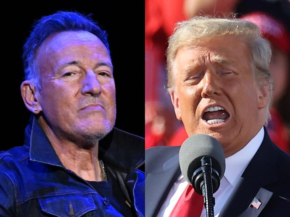 Springsteen and Trump (Getty)
