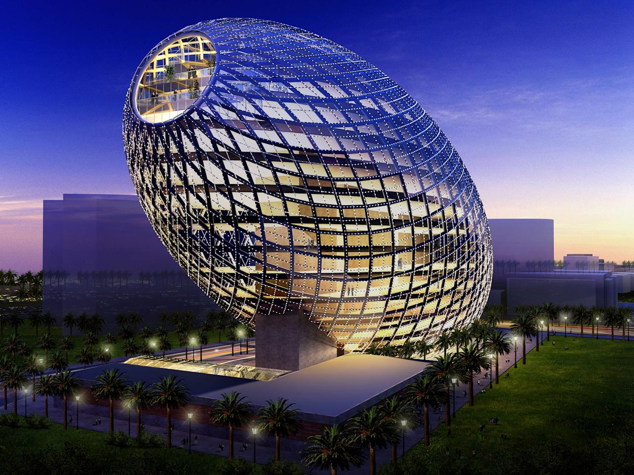 Egg-shaped building coming up in Mumbai