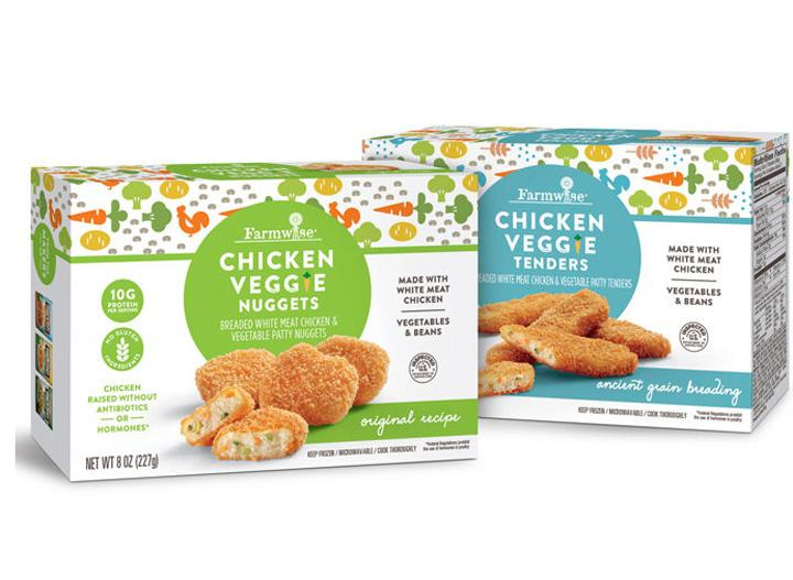 Farmwise all in one chicken veggie nuggets and tenders