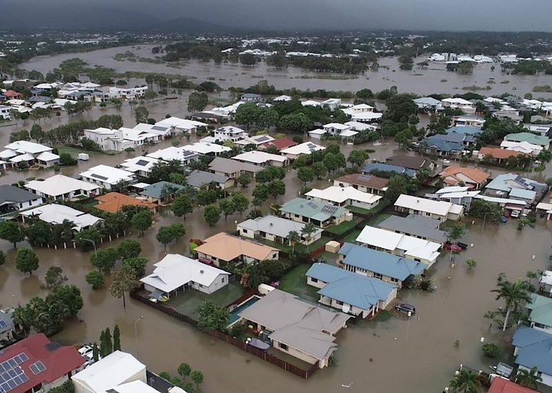 Townsville and other parts of northeastern Australia have had a year's worth of rainfall in a week causing devastating flooding (AFP Photo/Queensland Fire and Emergency Services)