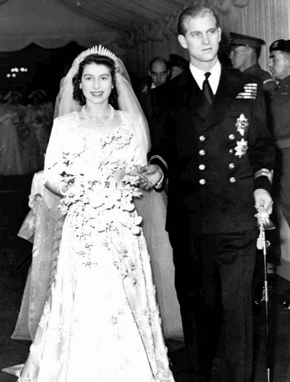 The Greek prince became Prince Philip Duke of Edinburgh, on his wedding day, created so by Elizabeth's father, King George VI.