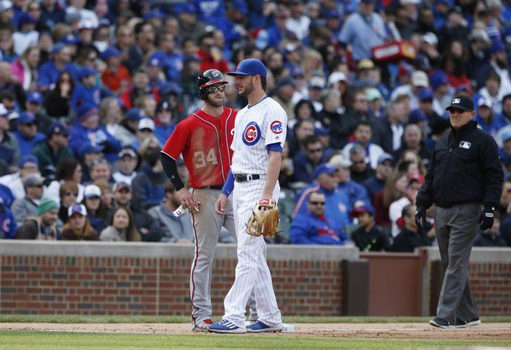 Bryce Harper and Kris Bryant grew up in Las Vegas. (AP Photo)