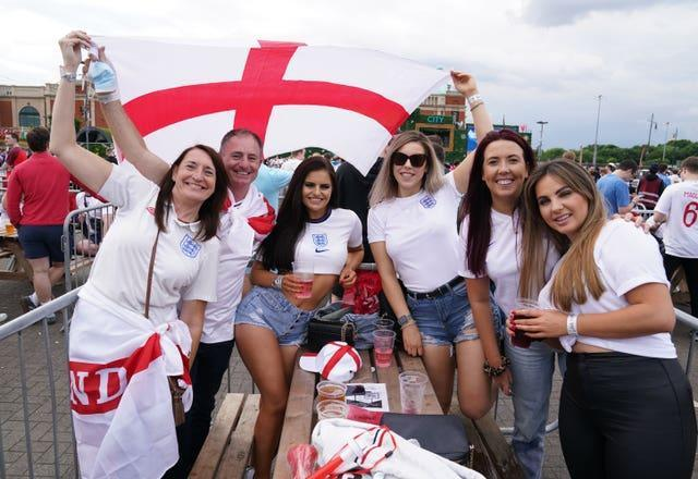 Fans watching Italy v England – UEFA Euro 2020 – Final
