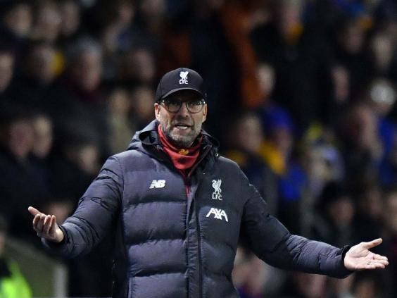 Klopp was unhappy after Liverpool coughed up a two-goal lead (AFP via Getty)