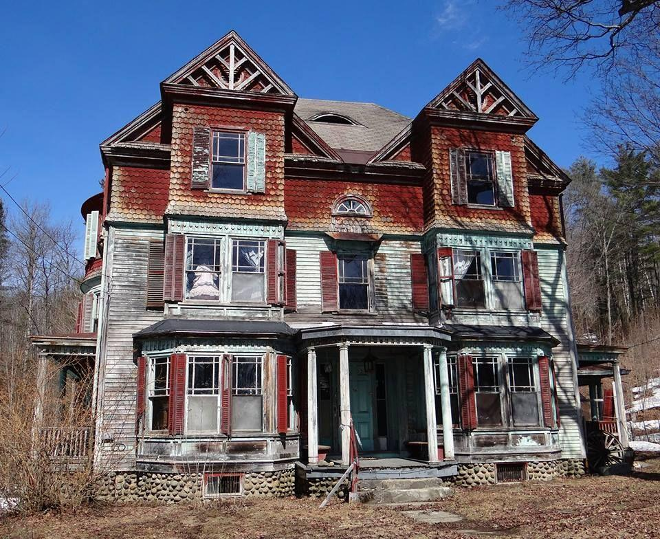 """<p><strong>Franklin County Mystery House - Franklin County, ME</strong></p><p>Maine is in no short supply of spooky inhabitants... after all, it is the home to Stephen King. But this abandoned home in Franklin County looks like the stuff horror stories are made of. Just look in the second story window—all the way to the left.</p><p>Photo: Facebook/<a href=""""https://www.facebook.com/photo.php?fbid=10155900074042794&set=gm.480988045740684&type=3"""" rel=""""nofollow noopener"""" target=""""_blank"""" data-ylk=""""slk:Dan Markey"""" class=""""link rapid-noclick-resp"""">Dan Markey</a></p>"""