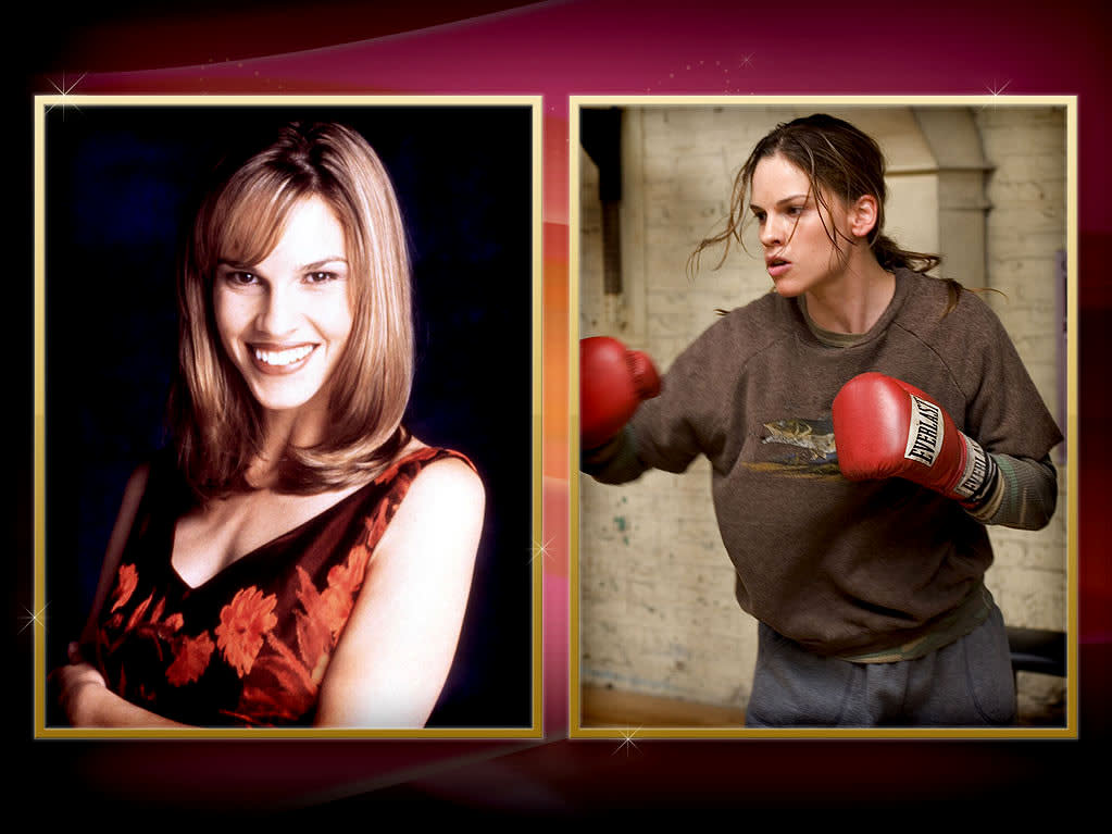 """Hilary Swank — That master class in acting we know as """"<a href=""""http://tv.yahoo.com/beverly-hills-90210/show/33"""" rel=""""nofollow"""">Beverly Hills, 90210</a>"""" gave us such noted thespians as Tori Spelling, Ian Ziering… and yes, Swank, who joined the show in 1997 as single mom Carly Reynolds. Swank's character was written out after just 16 episodes, but she landed on her feet, winning a pair of Oscars for """"Boys Don't Cry"""" and """"Million Dollar Baby."""""""