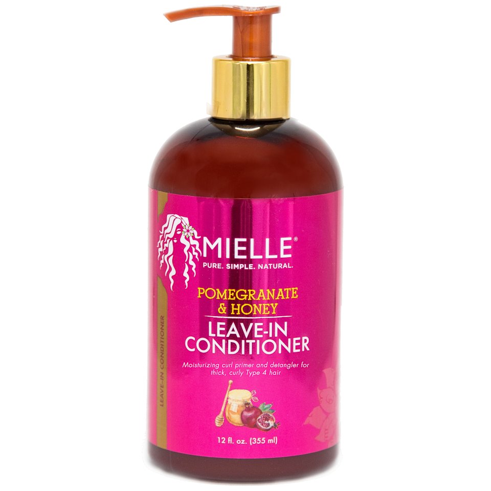 "<p>Moisturizing your hair before adding a definer is key if you want your texture to be on point. Prime curls with Mielle's Pomegranate & Honey Leave-In Conditioner, a moisturizing and detangling cream that was made specifically for thicker coils. Start at the ends and work your way up to protect your hair from unnecessary breakage.</p> <p>$13 (<a href=""https://shop-links.co/1670705831192614464"" rel=""nofollow"">Shop Now</a>)</p>"
