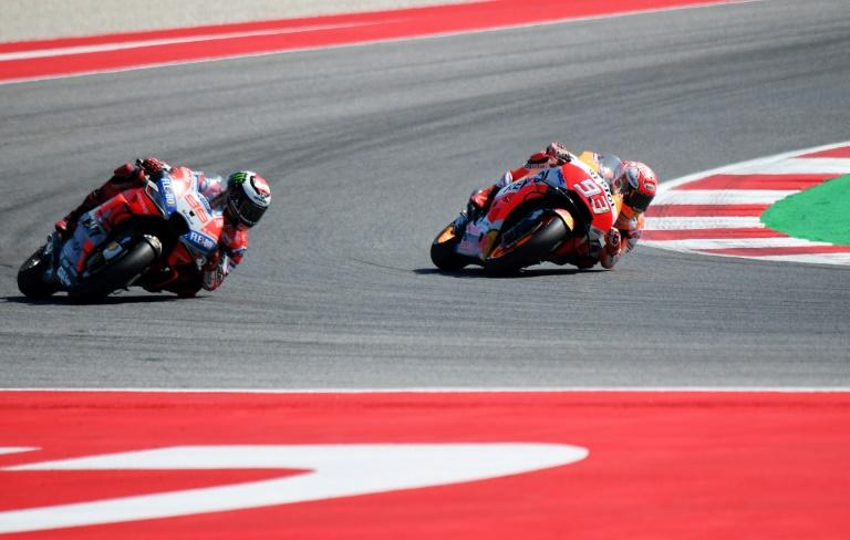 Spaniard Marc Marquez of Honda finished second in San Marino to extend his lead at the top of the MotoGP world standings