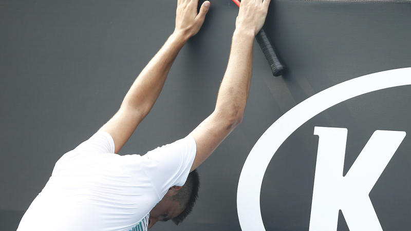 Bernard Tomic, pictured here during Australian Open qualifying.