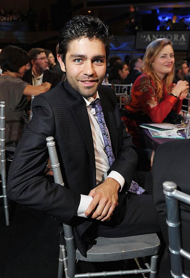 """Adrian Grenier hit up the 15th Annual Webby Awards at New York's Hammerstein Ballroom on Monday night. The event honors excellence on the Internet, including websites, interactive advertising, online film & video, and mobile & apps. Michael Loccisano/<a href=""""http://www.gettyimages.com/"""" target=""""new"""">GettyImages.com</a> - June 13, 2011"""
