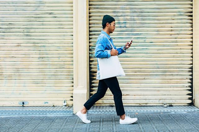You might want to put down your phone and pick up the pace [Photo: Getty]