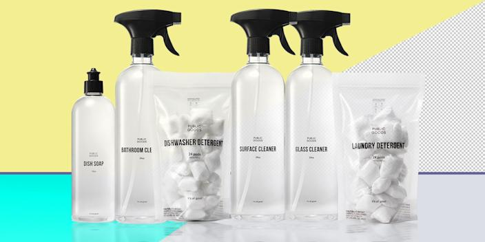 """<div class=""""caption""""> If you're into super chic bottles of house cleaners for just $5.75 a pop (who isn't?), go get a Public Goods membership, which offers yearlong access to its markup-free household and personal care products. <br> <a href=""""https://www.publicgoods.com/products/annual-membership"""" rel=""""nofollow noopener"""" target=""""_blank"""" data-ylk=""""slk:SHOP NOW"""" class=""""link rapid-noclick-resp"""">SHOP NOW</a>: Annual membership to Public Goods, $59, publicgoods.com<br> </div> <cite class=""""credit"""">Photo courtesy of Public Goods</cite>"""