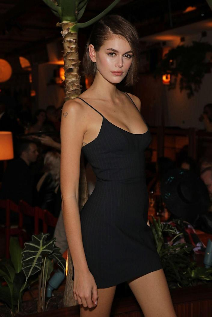 <p>At 18, Kaia looks exactly like her supermodel mother — and is, fittingly, following in Crawford's footsteps. </p>