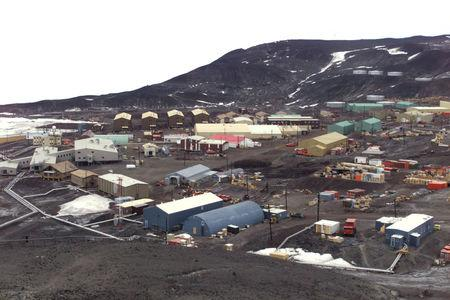 FILE PHOTO: GENERAL VIEW OF THE UNITED STATES MCMURDO STATION IN ANTARCTICA.
