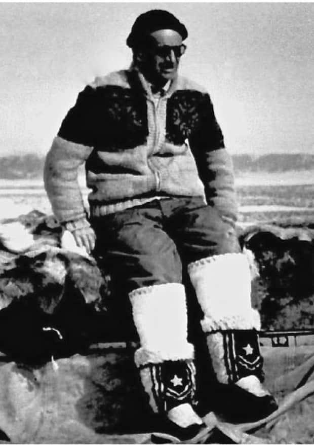 Dr. Leslie Tuck is pictured at Bylot Island, Nunavut, in 1957.