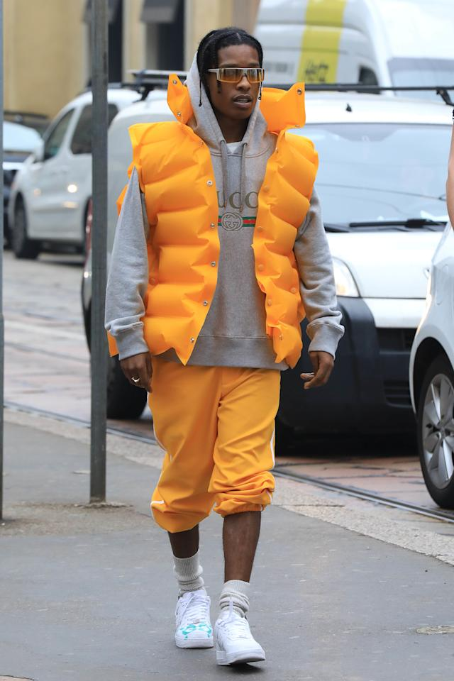 "<p>Probably <a rel=""nofollow"" href=""http://www.esquire.co.uk/style/news/g10072/best-asap-rocky-style-outfits/"">the biggest risk-taker in men's style</a> right now, more often than not Asap Rocky's high low blend of Gucci, Givenchy, Supreme and Paris Fashion Week swagger lands... but sometimes he wears a life jacket as a statement piece and it all comes tumbling down.</p>"