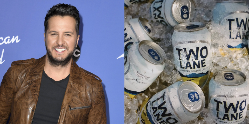 """<p>Luke Bryan, country singer and <em>American Idol</em> host, launched this crisp and delicious golden ale this spring. It's named for the two lane roads of his youth spent in Leesburg, GA. Bryan's goal is for you to experience a modern take on an easy-drinking classic and one that's brewed with American grown barley and water from the Blue Ridge Mountains.</p><p><a class=""""link rapid-noclick-resp"""" href=""""https://go.redirectingat.com?id=74968X1596630&url=https%3A%2F%2Fdrizly.com%2Fbeer%2Flager%2Fpale-lager%2Famerican-style-lager%2Flight-lager%2Ftwo-lane-american-golden-lager-beer%2Fp100681&sref=https%3A%2F%2Fwww.delish.com%2Ffood%2Fg32949671%2Fcelebrity-alcohol-brands%2F"""" rel=""""nofollow noopener"""" target=""""_blank"""" data-ylk=""""slk:BUY NOW"""">BUY NOW</a> <em><strong>$17, drizly.com</strong></em></p>"""