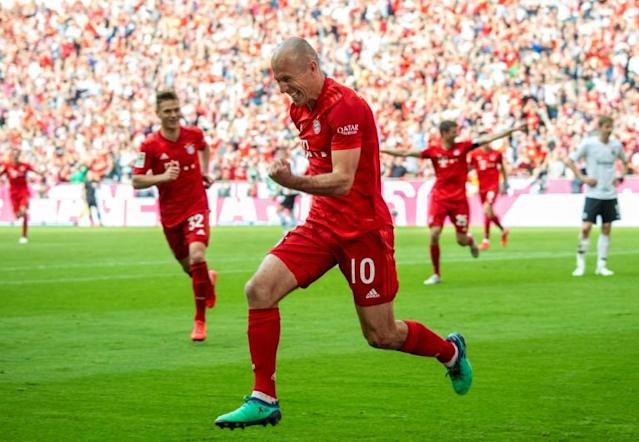 Netherlands and Bayern Munich great Arjen Robben is planning a comeback with the club where he made his professional debut (AFP Photo/John MACDOUGALL)