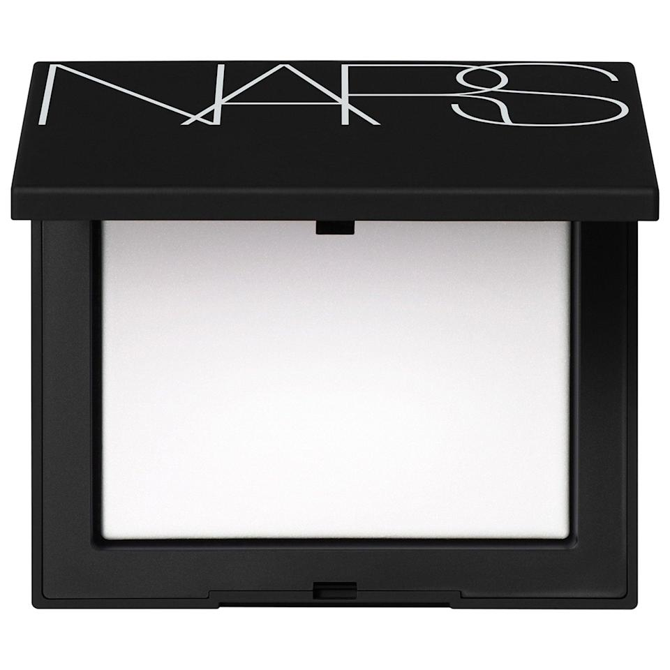 "<p>Coming in translucent (for fairer skin) and sunstone (for deeper complexions), this weightless <a href=""https://www.popsugar.com/buy/Nars-Light-Reflecting-Pressed-Setting-Powder-587096?p_name=Nars%20Light%20Reflecting%20Pressed%20Setting%20Powder&retailer=sephora.com&pid=587096&price=37&evar1=bella%3Aus&evar9=47597630&evar98=https%3A%2F%2Fwww.popsugar.com%2Ffashion%2Fphoto-gallery%2F47597630%2Fimage%2F47597668%2FNars-Light-Reflecting-Pressed-Setting-Powder&list1=makeup%2Csephora%2Cbeauty%20shopping&prop13=api&pdata=1"" class=""link rapid-noclick-resp"" rel=""nofollow noopener"" target=""_blank"" data-ylk=""slk:Nars Light Reflecting Pressed Setting Powder"">Nars Light Reflecting Pressed Setting Powder</a> ($37) helps foundation look its best and last its longest. While algae extract and Polynesian seawater reflect light for a natural, matte glow, it's also got glycerin and vitamin E to keep skin moisturized and nourished.</p>"