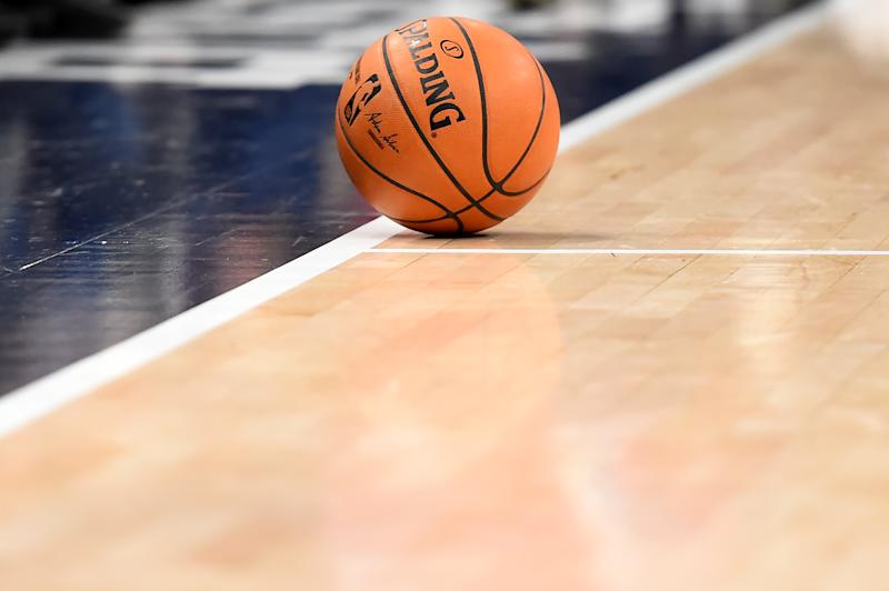 WASHINGTON, DC - DECEMBER 28: A general view of a Spalding game ball used during the game between the Washington Wizards and the New York Knicks at Capital One Arena on December 28, 2019 in Washington, DC. NOTE TO USER: User expressly acknowledges and agrees that, by downloading and or using this photograph, User is consenting to the terms and conditions of the Getty Images License Agreement. (Photo by Will Newton/Getty Images)