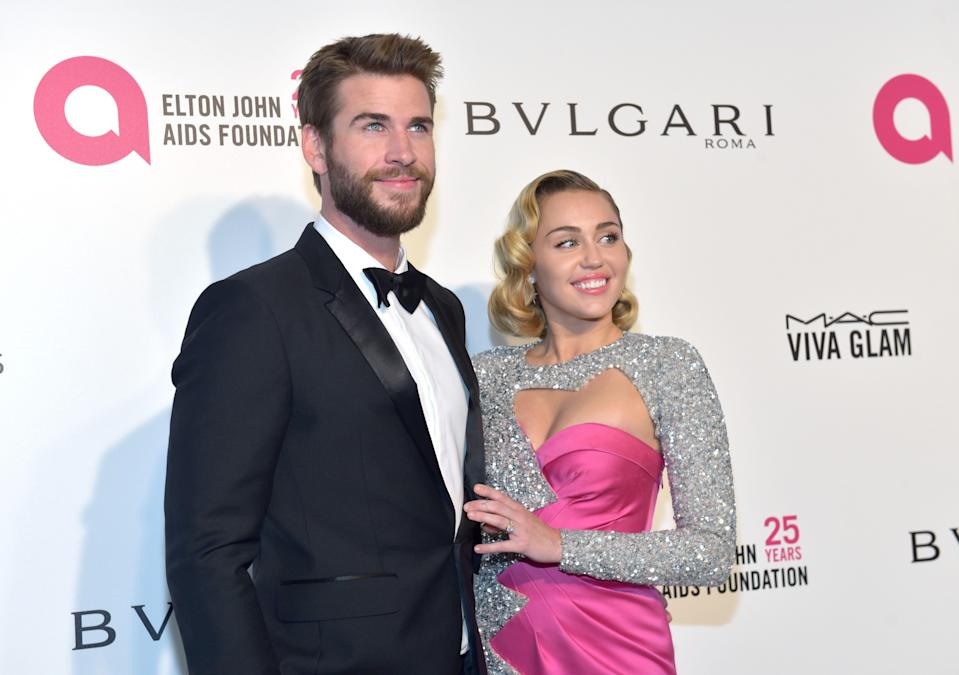 Miley Cyrus and Liam Hemsworth may have just tied the knot