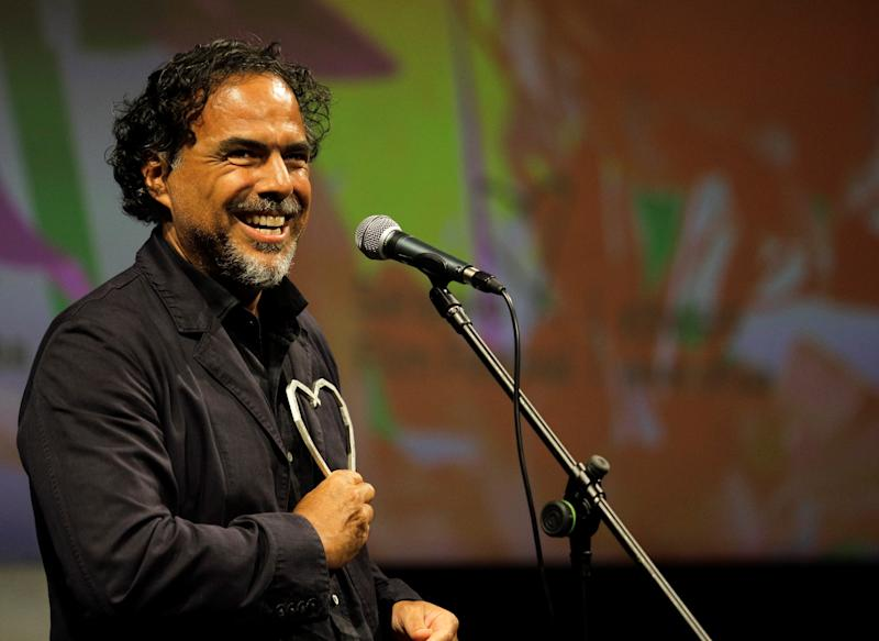 "SARAJEVO, BOSNIA AND HERZEGOVINA - AUGUST 16: Mexican director Alejandro Gonzalez Inarritu makes a speech after receiving ""Honorary Heart of Sarajevo"" award during the 25th Sarajevo Film Festival in Sarajevo, Bosnia and Herzegovina on August 16, 2019. (Photo by Samir Yordamovic/Anadolu Agency via Getty Images)"