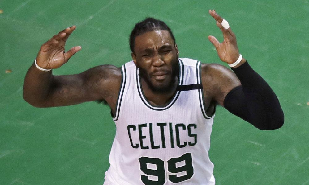 Jae Crowder shows his frustration as the Celtics' struggles continue