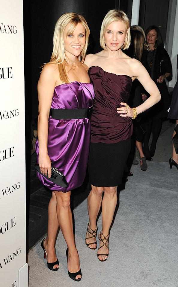 "Reese Witherspoon and Renee Zellweger almost looked like sisters in their strapless ensembles at the launch party for the new Vera Wang store in LA. Steve Granitz/<a href=""http://www.wireimage.com"" target=""new"">WireImage.com</a> - March 2, 2010"