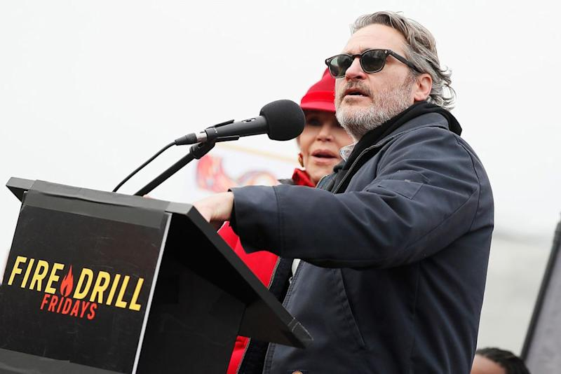 Phoenix speaking at the Fire Drill Fridays protest in Washington, D.C. | Paul Morigi/Getty