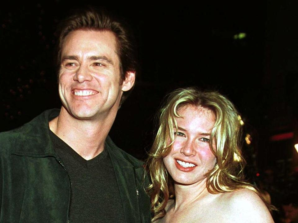Jim Carrey and Renée Zellweger dated while the actor filmed 'Bridget Jones's Diary'AFP via Getty Images