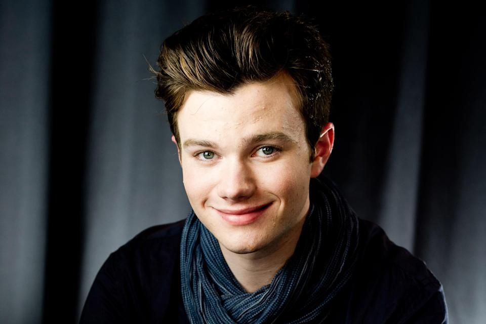 """FILE - In this April 21, 2012 file photo, actor Chris Colfer poses for a portrait in New York. Colfer stars in the Fox series, """"Glee."""" (AP Photo/Charles Sykes, file)"""