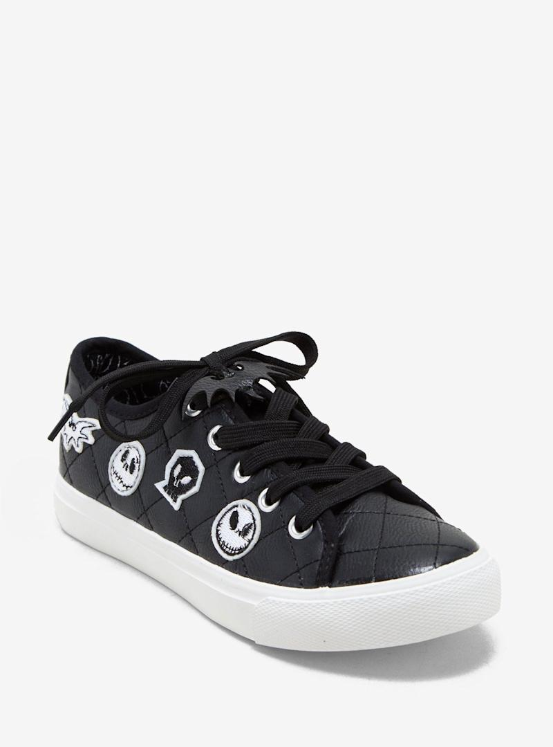 The Nightmare Before Christmas Patched Faux Leather Sneakers (Photo: Hot Topic)