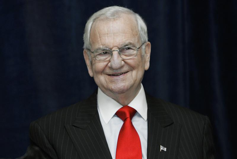 Lee Iacocca speaks at the 70th Luncheon of the Metro-Detroit