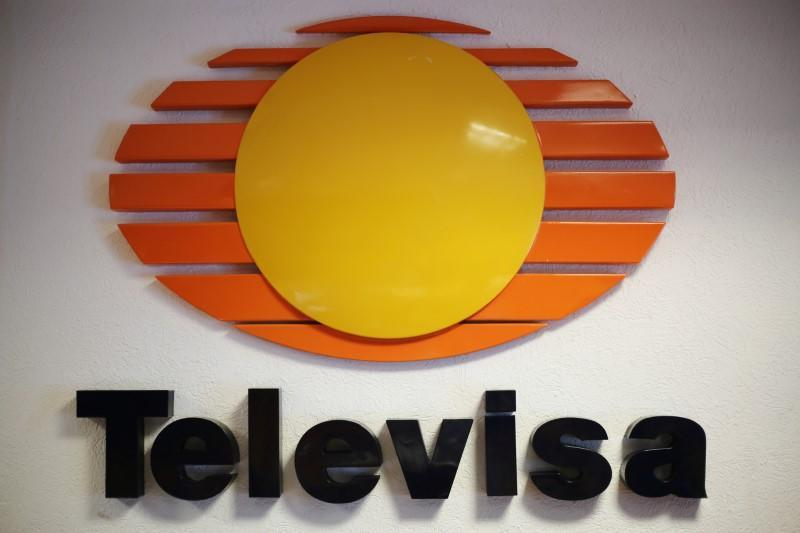 FILE PHOTO: Logo of broadcaster Televisa is pictured at its offices in Ciudad Juarez