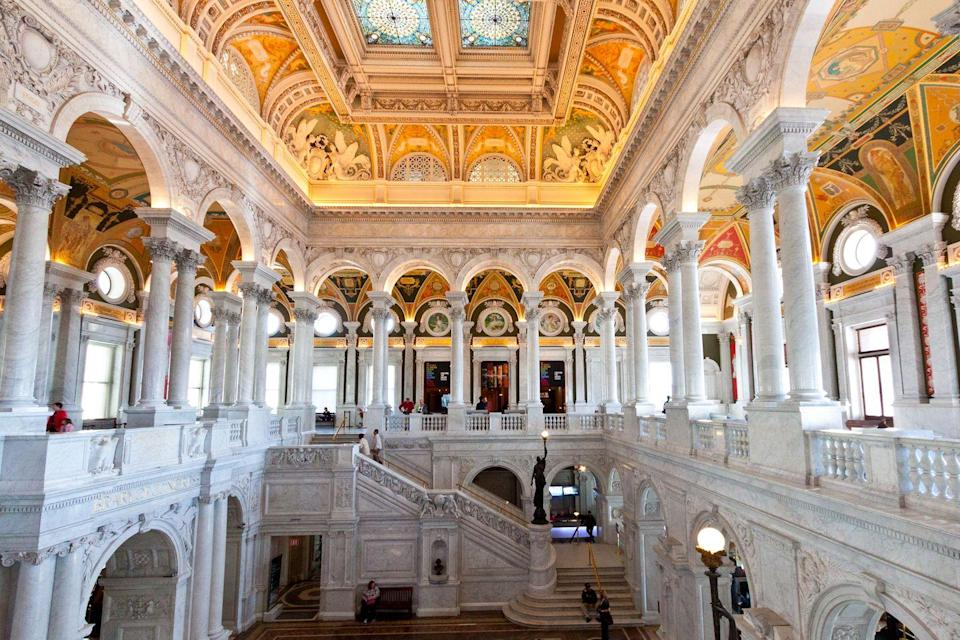 <p>The Library of Congress consists of three buildings: the John Adams Building, the James Madison Memorial Building, and the Thomas Jefferson Building, which is the oldest of the trio and is arguably the main attraction when it comes to design. Throughout the seven-year-long construction of this Beaux-Arts and Renaissance Revival edifice (which lasted from 1890 until 1897), the Thomas Jefferson Building saw various architects play a role in its creation: Paul J. Pelz, John L. Smithmeyer, and Edward Pearce Casey.</p>