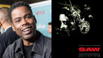 """The news that Chris Rock was crafting the story for a <em>Saw</em> movie surprised just about everyone earlier this year. But it has happened, and it won't be long until we see it. <a href=""""https://uk.movies.yahoo.com/samuel-l-jackson-star-chris-160230139.html"""" data-ylk=""""slk:Samuel L. Jackson and Roc;outcm:mb_qualified_link;_E:mb_qualified_link;ct:story;"""" class=""""link rapid-noclick-resp yahoo-link"""">Samuel L. Jackson and Roc</a>k lead the cast, with franchise veteran Darren Lynn Bousman behind the camera. (Credit: Gilbert Carrasquillo/FilmMagic/Lionsgate)"""
