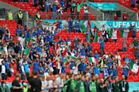 Italy supporters at Wembley for their team's game against Austria in the last 16