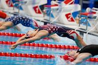 <p>For the fourth year running, the women's Olympic 100m backstroke record has been broken – this time by Team USA swimmer Regan Smith. Finishing in 57.86 seconds Smith secured her place in the final round on</p>