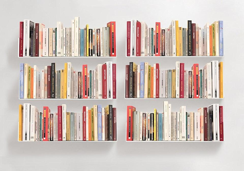 <p>To save floor space, try the <span>Teebooks Bookshelves</span> ($576). The modern-looking shelves are perfect for apartment living, allowing more space in your room for other furniture.</p>