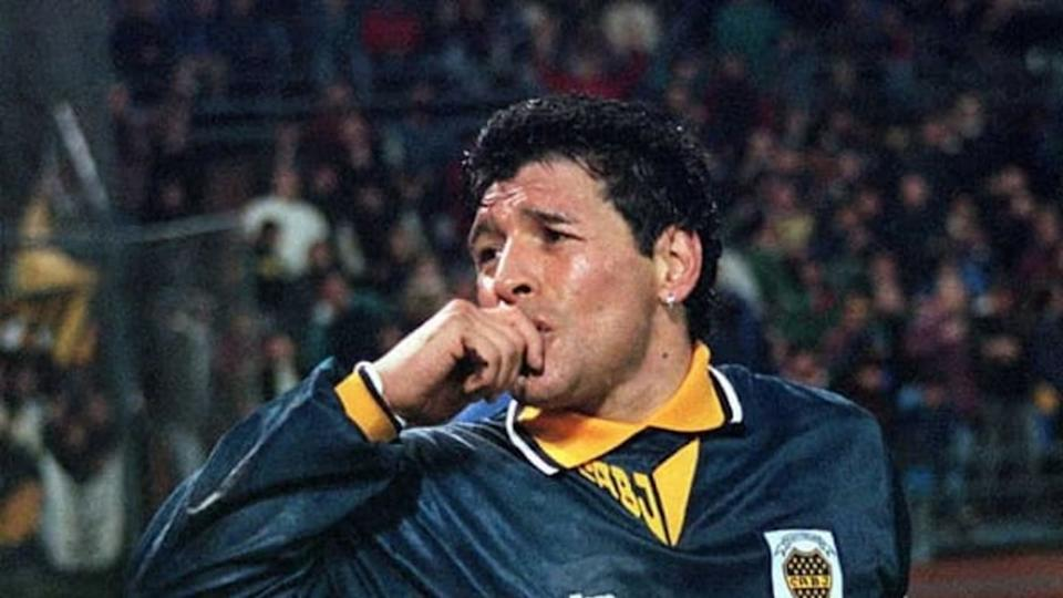 Maradona terminó su carrera en Boca Juniors, el club de sus amores | STR/AFP via Getty Images