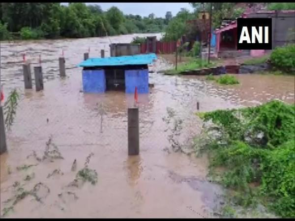 Flood affected area of the Karauli district