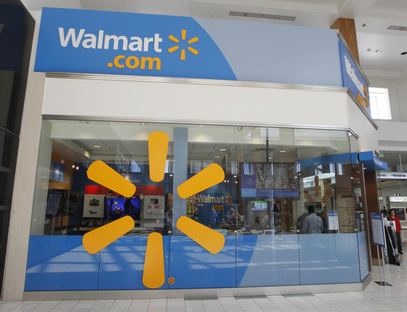 A view of the Wal-Mart.com store at the Topanga Plaza in Canoga Park, California, November 8, 2011. Two tiny Walmart.com stores are making Southern California malls their home for the holidays, launching the latest salvo in the war for online retail dominance. The temporary stores are a first for Wal-Mart Stores Inc. which experiments with store concepts in various markets hoping they will drive shoppers to its website. Picture taken November 8, 2011. REUTERS/Fred Prouser (UNITED STATES - Tags: BUSINESS SCIENCE TECHNOLOGY)