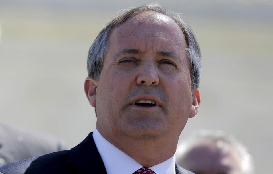 <p>Texas AG Ken Paxton has sued the Biden administration over its freeze on deportations</p>