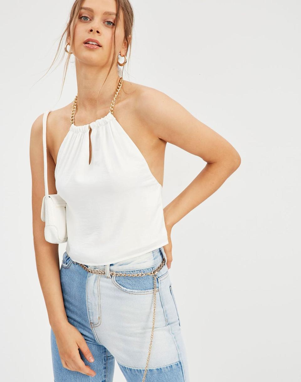 Glassons Chain Halter Top, on sale for $24.99. Photo: Glassons.