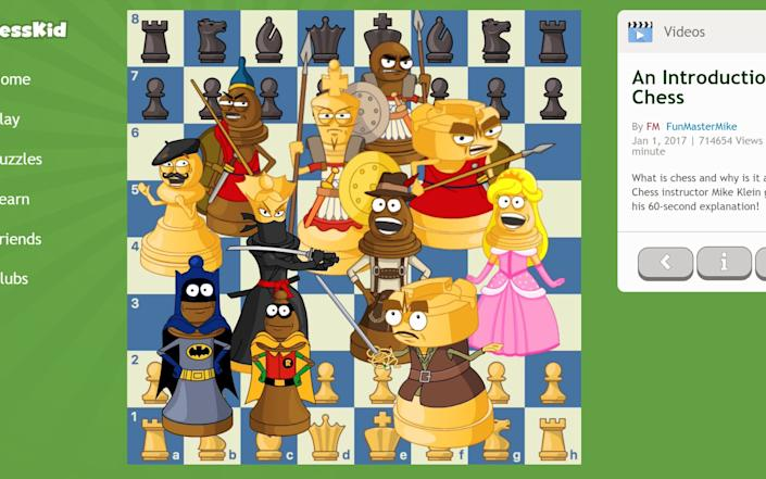 ChessKid offers simple explanations of the game and its strategy