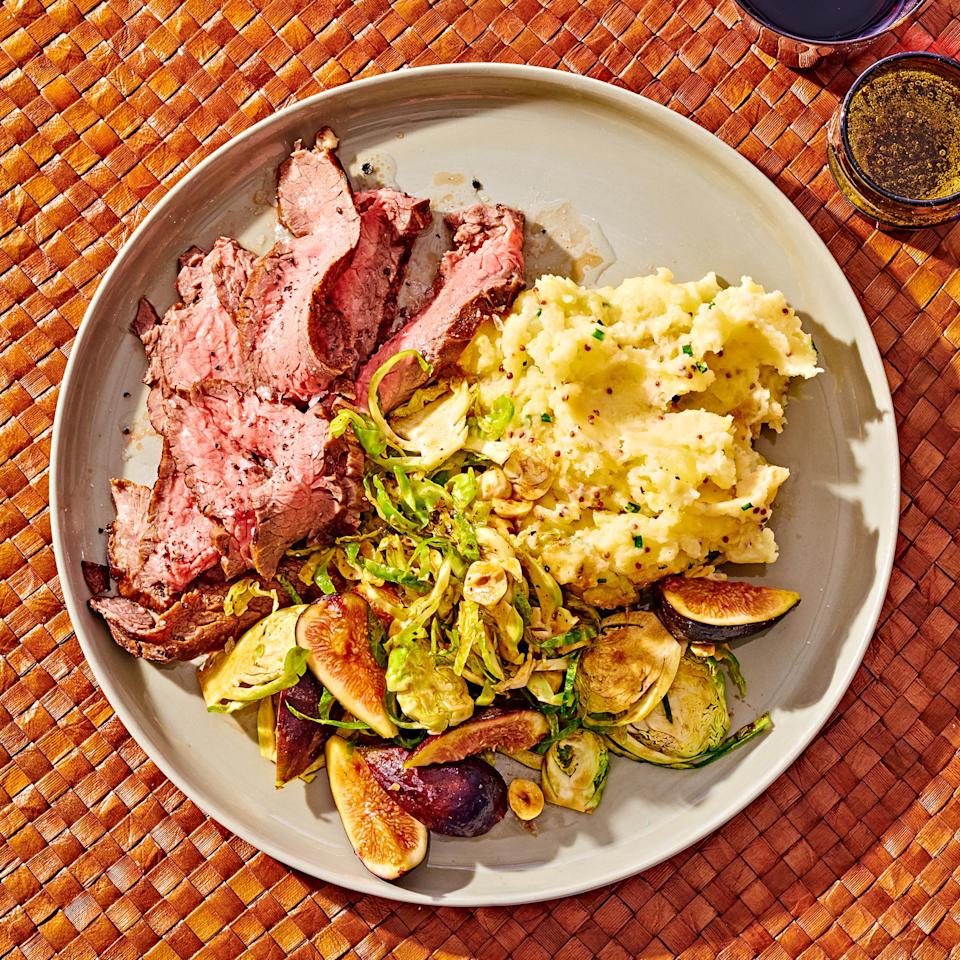 <p>Brussels sprouts are available already shredded in many supermarkets, but if you want to DIY, use your sharpest knife or a mandoline or pass them through the feed tube of a food processor fitted with the slicing attachment.</p>